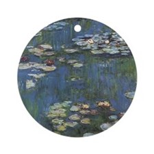 Monet's Water Lilies Ornament (Round)