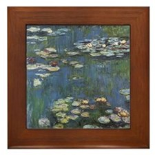 Monet's Water Lilies Framed Tile