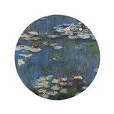"Monet's Water Lilies 3.5"" Button"