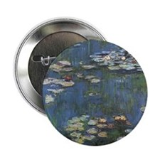 "Monet's Water Lilies 2.25"" Button"
