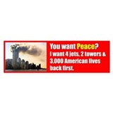 You Want Peace Bumper Sticker (50 pk)