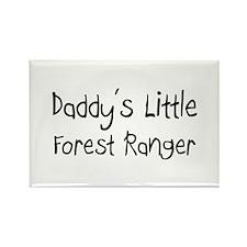 Daddy's Little Forest Ranger Rectangle Magnet
