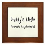 Daddy's Little Forensic Psychologist Framed Tile