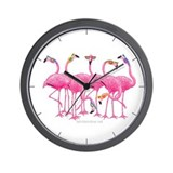 Cool Flamingo Wall Clock