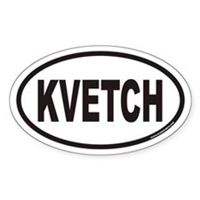 KVETCH Euro Oval Decal