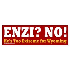Anti-Enzi Wyoming Bumper Sticker