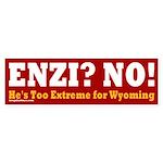 Anti-Enzi Wyoming Bumper Sticker
