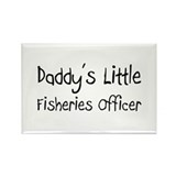 Daddy's Little Fisheries Officer Rectangle Magnet