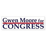 Gwen Moore for Congress car sticker
