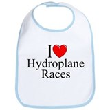 """I Love (Heart) Hydroplane Races"" Bib"
