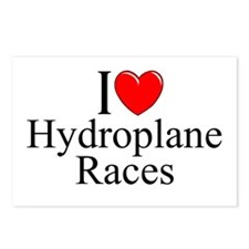 """I Love (Heart) Hydroplane Races"" Postcards (Packa"