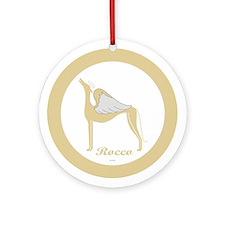 ROCCO ANGEL GREY ROUND ORNAMENT