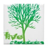 Live Green Tile Coaster