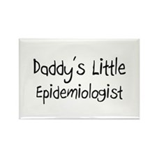 Daddy's Little Epidemiologist Rectangle Magnet