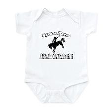 """Save Horse, Ride Orthodontist"" Infant Bodysuit"