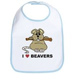 I Love Beavers Bib