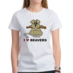 I Love Beavers Women's T-Shirt