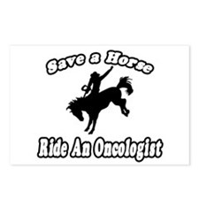 """Save Horse, Ride Oncologist"" Postcards (Package o"