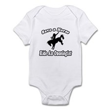 """Save Horse, Ride Oncologist"" Infant Bodysuit"