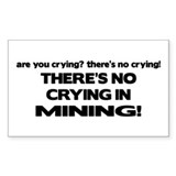 There's No Crying Mining Rectangle Decal