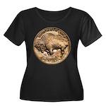 Nickel Buffalo Women's Plus Size Scoop Neck Dark T