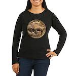 Nickel Buffalo Women's Long Sleeve Dark T-Shirt