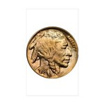 Nickel Indian Head Rectangle Sticker 10 pk)