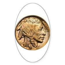 Nickel Indian Head Oval Decal