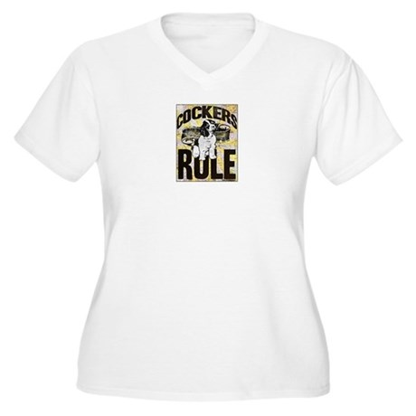 Cockers Rule Women's Plus Size V-Neck T-Shirt