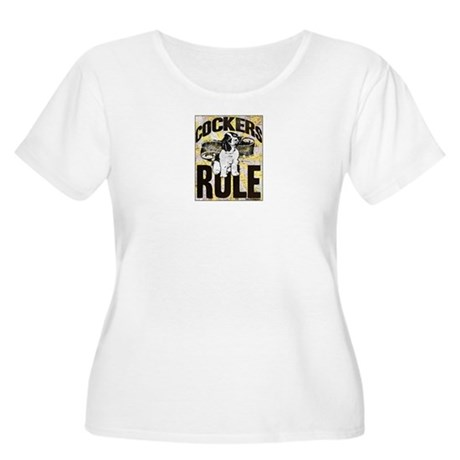 Cockers Rule Women's Plus Size Scoop Neck T-Shirt