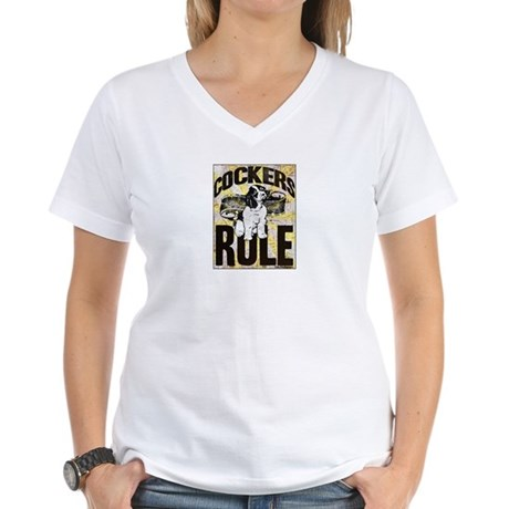 Cockers Rule Women's V-Neck T-Shirt
