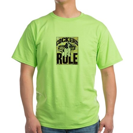 Cockers Rule Green T-Shirt