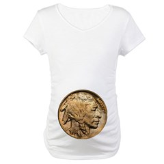 Nickel Indian Head Maternity T-Shirt