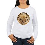 Nickel Indian Head Women's Long Sleeve T-Shirt