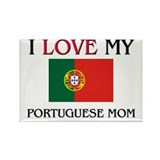 I Love My Portuguese Mom Rectangle Magnet (10 pack
