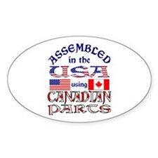 USA / Canadian Parts Oval Sticker (10 pk)