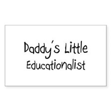 Daddy's Little Educationalist Rectangle Decal