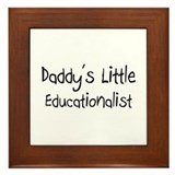 Daddy's Little Educationalist Framed Tile