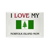 I Love My Norfolk Island Mom Rectangle Magnet