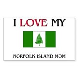 I Love My Norfolk Island Mom Rectangle Decal