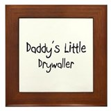 Daddy's Little Drywaller Framed Tile
