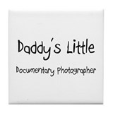 Daddy's Little Documentary Photographer Tile Coast