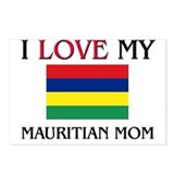 I Love My Mauritian Mom Postcards (Package of 8)