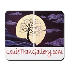 Plum Blossom Moonlight Mousepad