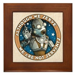 Robot Labor Union Framed Tile