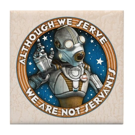 Robot Labor Union Tile Coaster