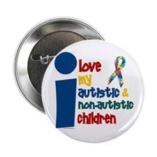 I Love My Autistic & NonAutistic Children 1 2.25""