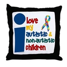 I Love My Autistic & NonAutistic Children 1 Throw