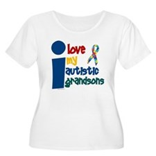 I Love My Autistic Grandsons 1 T-Shirt