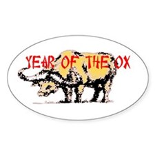 Year of the Ox Oval Sticker (10 pk)